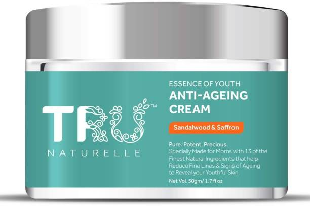TRU NATURELLE Anti Aging Cream For Women with Sandalwood, Saffron, Turmeric & Rose |