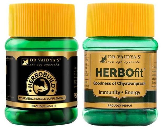 Dr. Vaidya's Ayurvedic Fitness Pack - Herbofit x 1, Herbobuild x 1