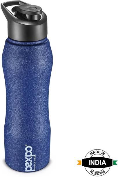 Pexpo Stainless Steel Bottles Pexpo||Bistro Stainless Steel Water Bottle||Blue Flip Top cap ||1000ml 1000 ml Bottle