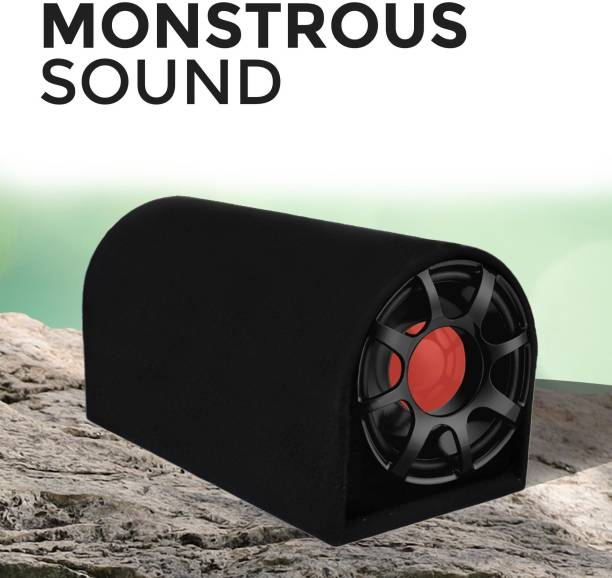 """GoMechanic Rumble R1 8"""" Inch Active Basstube with 1 Year Warranty & in-Built Amplifier 3000W High O/P for Crystal Clean Low Frequency Bass Response for All Vehicles (Sub-woofer with D Shape Enclosure) Basstube Subwoofer"""