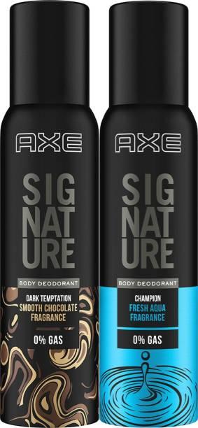 AXE Signature Champion & Dark Temptation 154 ml each Perfume Body Spray  -  For Men