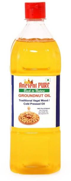 Ancient pure Groundnut Oil Cold Pressed 1Lt Groundnut Oil PET Bottle