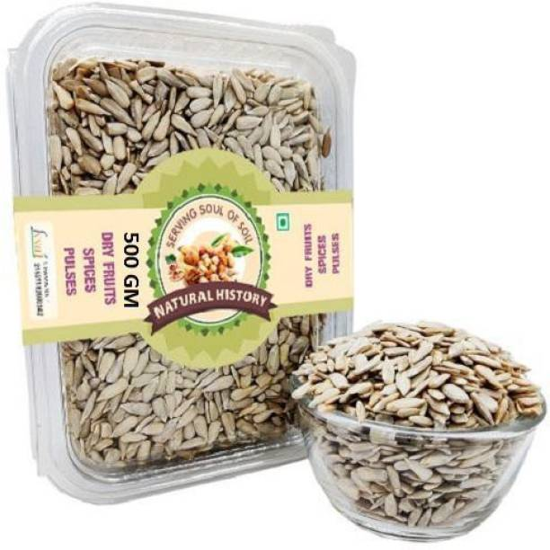 natural history Brand- Premium Sunflower Seeds 500 Gm (Pack Of 1 )