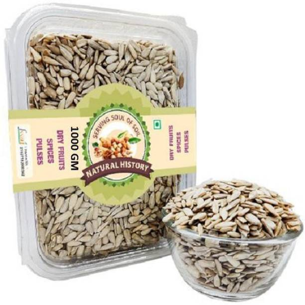 natural history Brand- Premium Sunflower Seeds 1000 Gm (Pack Of 1 )