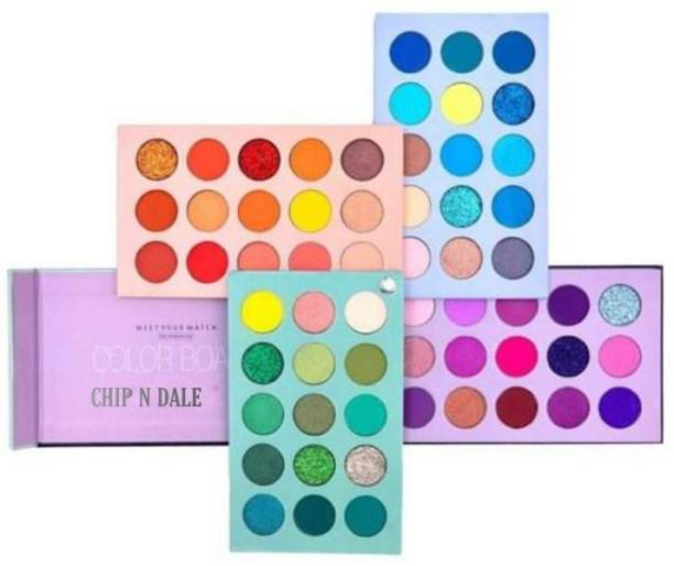 Chip N Dale 60 Colour Multi-Shades Color Board Highly pigmented Eye shadow palette 60 ml