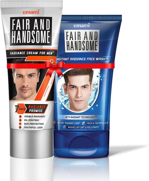 FAIR AND HANDSOME Radiance Cream 100g + Instant Radiance Face Wash 100g Combo Pack
