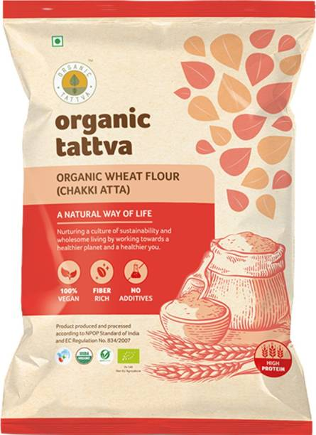 Organic Tattva Wheat Flour (Atta) 5 Kg Pouch