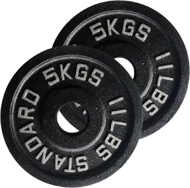 Fitness Guru Olympic Cast Iron Weight Plates 2 inch Disc (5*2=10kg) Black Weight Plate