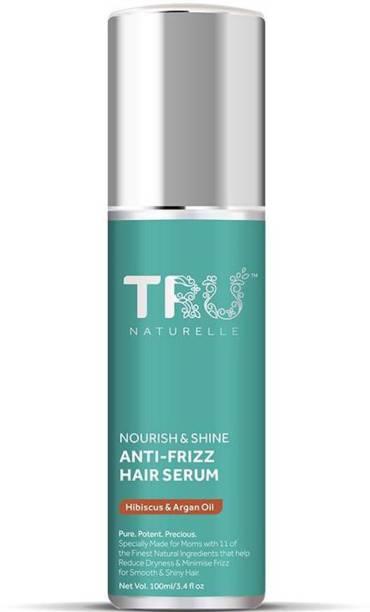 TRU NATURELLE Hair Serum For Women | Natural Hair smoothening Serum With Hibiscus and Argan |