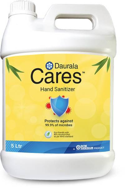 Daurala Cares Protects Against 99.9% Dangerous Microbes Hand Sanitizer Can