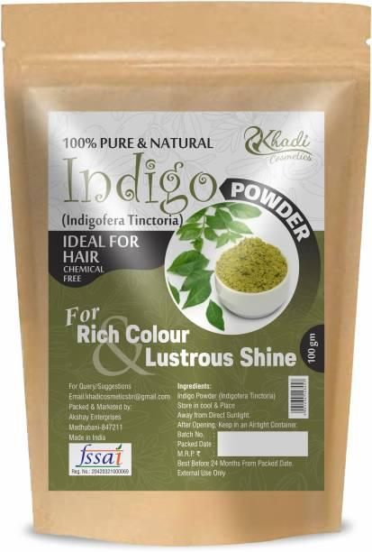 Khadi Cosmetics 100% Organic Indigo Powder