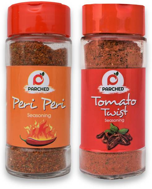Parched Peri Peri and Tomato Twist Seasoning Combo (45G, 45G)  No Preservatives  No Chemicals