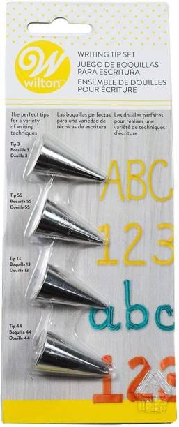 Wilton Writing Tip Set (Nozzles), 4pcs Steel Round Icing Nozzle