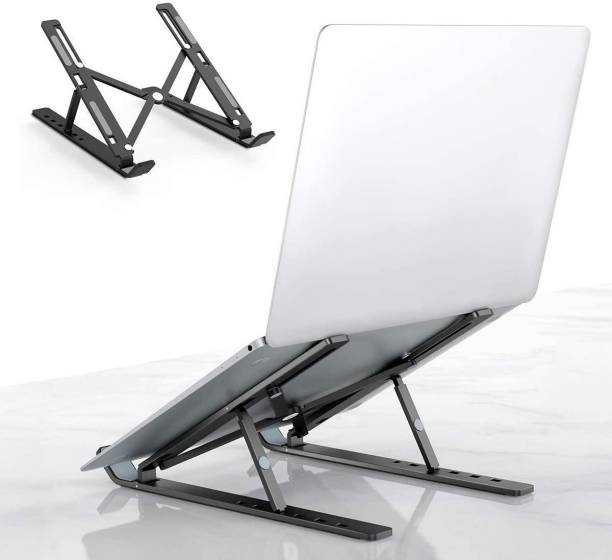 "ASTOUND Adjustable Aluminum Laptop Table Stand Tablet Foldable Desktop Cooling Holder Laptop Stand, Adjustable Ventilated Desktop Tablet Laptop Stands, Universal Portable Cooling Stand Notebook Riser Tray compatible with Dell XPS, HP, Lenovo, 10-15.6"" Laptop Tablet Laptop Stand"
