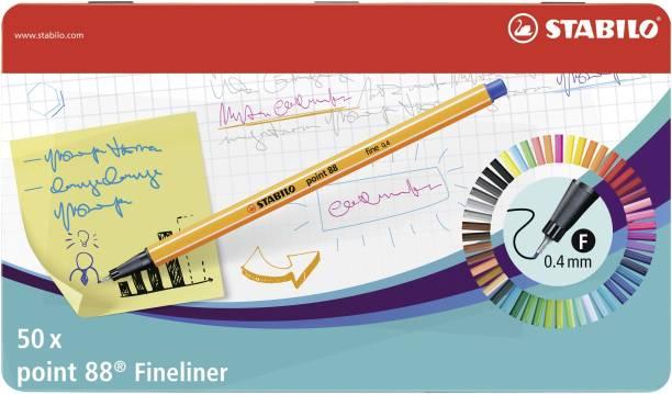 Stabilo point 88 - Fineliner Pen - Metal Box - 8850-6