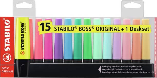 Stabilo BOSS ORIGINAL - Highlighter Pen - Deskset - 7015-01