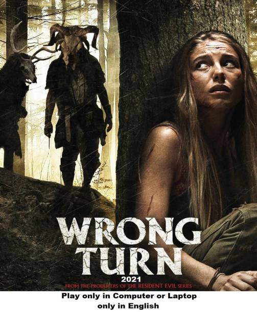 Wrong Turn 2021 in English it's DURN DATA DVD play only in computer or laptop it's not original without poster HD print