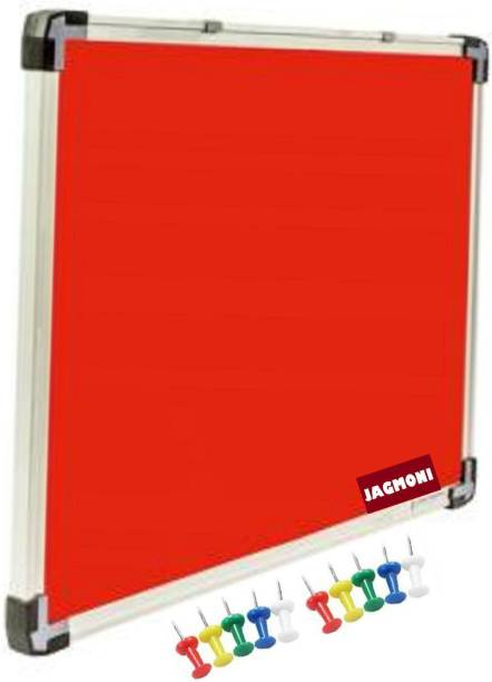 JAGMONI 3 x 4 feet Noticeboard Pin-up Board/Soft Board/Bulletin Board/Pin-up Display Board for Home,Office School,Institutes,Colleges,University,Coaching centre,Exhibition,Notification and Updates - Pack of 1 Notice Board with Pins Notice Board (90 cm 120 cm) JMNB-5069 Notice Board