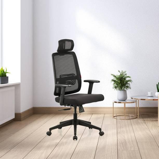 Featherlite Versa High Back Fabric Office Adjustable Arm Chair