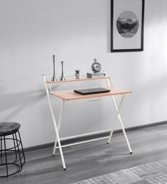 Woodware Futura Folding Office, Study Table With Dual Desks Engineered Wood Study Table