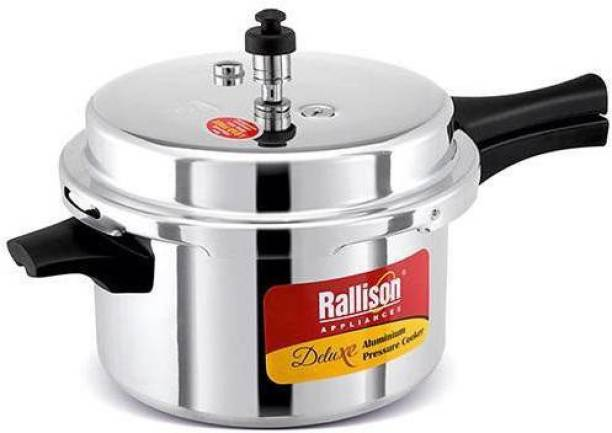 RallisonAppliances ISI CERTIFIED With Heavy 4MM Thickness & Double Safety Valve 3.5 L Pressure Cooker