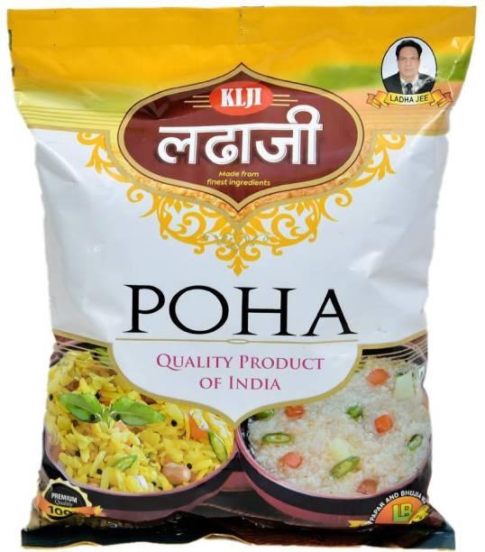 Ladha Ji Premium Quality Rice Poha 500g Poha (Medium Grain)