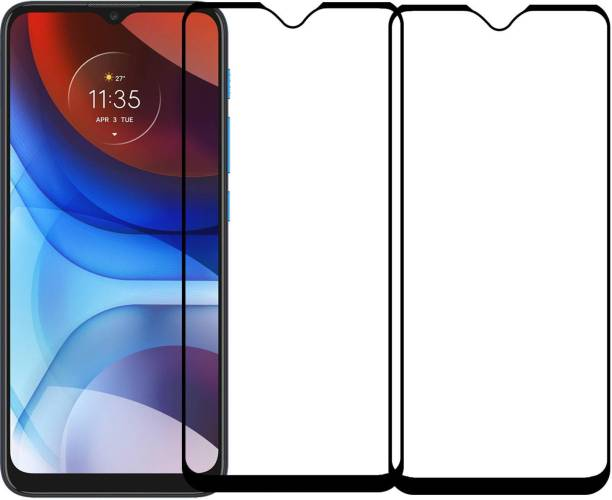Karpine Edge To Edge Tempered Glass for Motorola Moto E7 power
