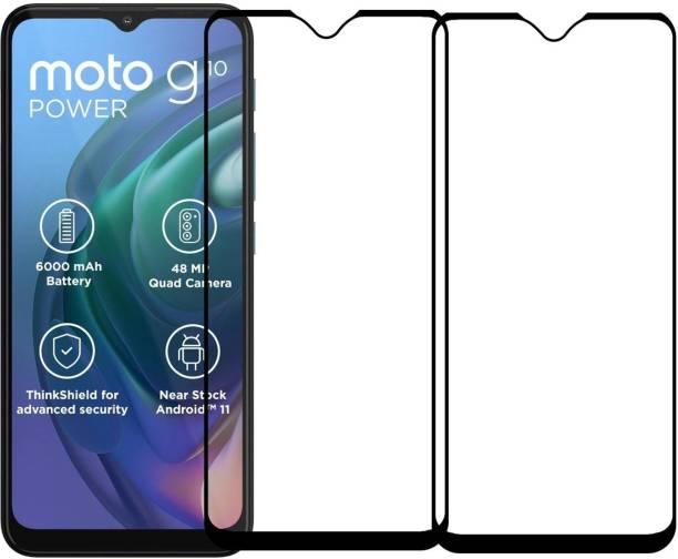 Karpine Edge To Edge Tempered Glass for Motorola Moto G10 Power