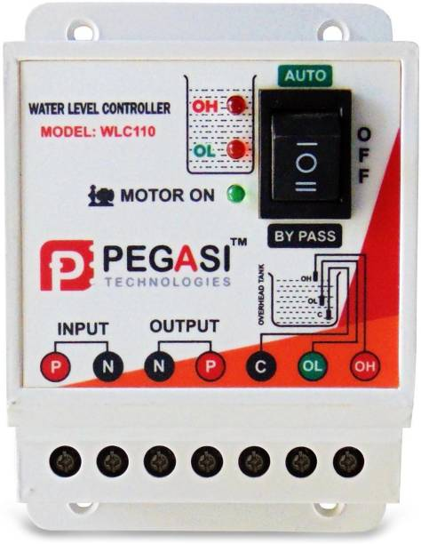 PEGASI Fully Automatic Water Level Controller and 3 sensors WLC110 Overhead Tank Only Wired Sensor Security System