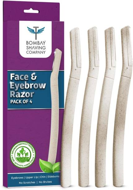 BOMBAY SHAVING COMPANY Eyebrow & Face Razor For Easy Facial Hair Removal At Home (Pack of 4)