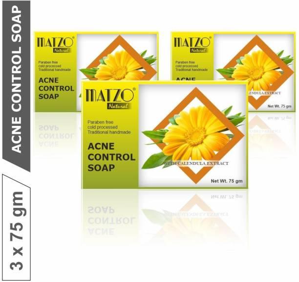 Matzo Natural 100% Natural Handmade Anti Acne Soap with Calendula Extracts