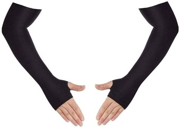 H International HIBLACKCOTN6 Arm Sleeve Driving Gloves