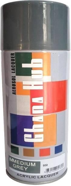 GHANA HUB Premium Cube Medium Grey Spray Paint 600 ml