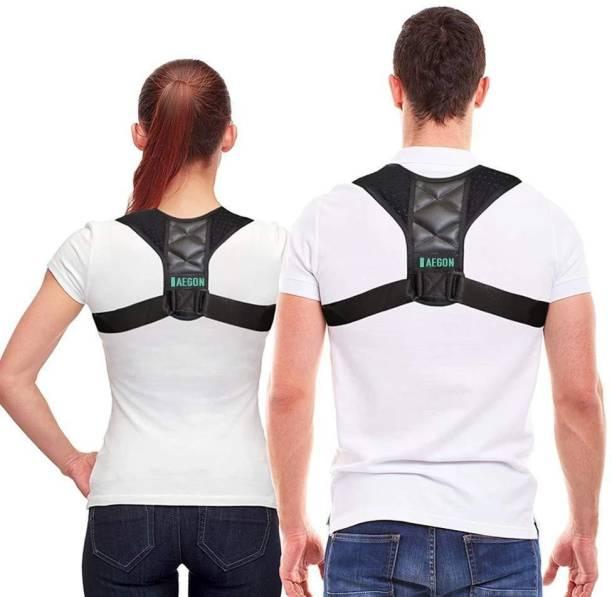 AEGON Posture Corrector Adjustable Belt Clavicle Brace for Back Pain Unisex Large Back Support