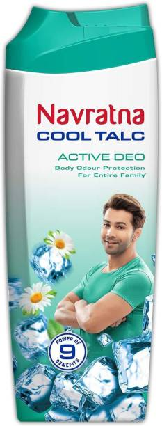 Navratna Cool Talc Active Deo Body Odour Protection For Entire Family