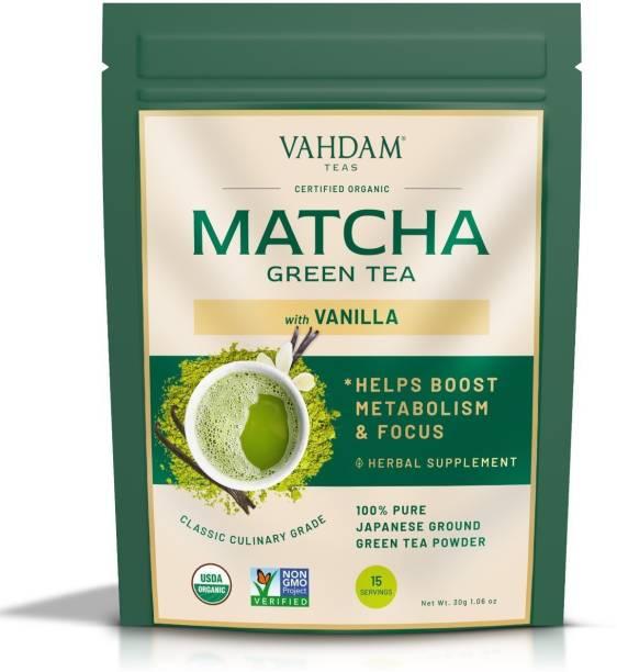 Vahdam Vanilla Pure Japanese Matcha Vanilla Matcha Tea Pouch