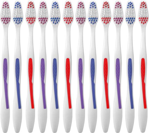 aquawhite Max Clean + Bristles Pack of 12. Health & Personal Care. Soft Toothbrush