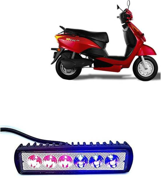 ACTOVISH Headlight, Fog Lamp, Reversing Light, Tail Light, Brake Light, License Plate Light LED for Indus Bikes