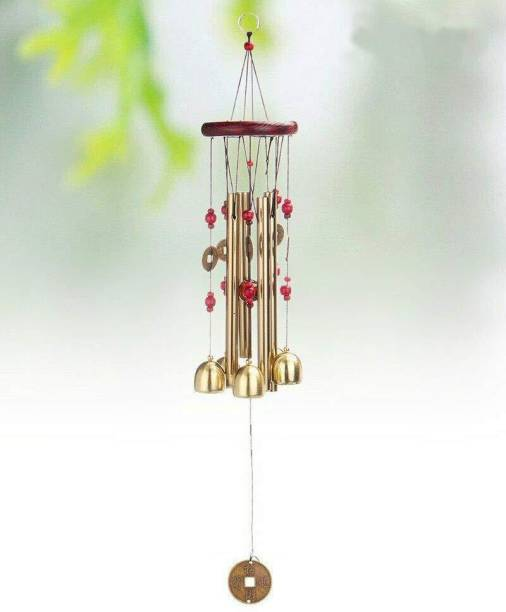 Sanol Lovely metal bell wind chimes for home decoration feng shui wind chime wooden wind chimes for home in Windchimes shanol Iron, Plastic, Wood Windchime