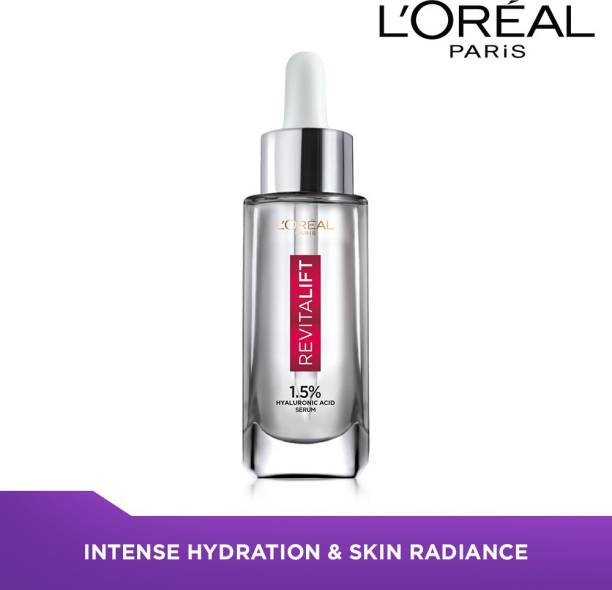 L'Oréal Paris Revitalift Hyaluronic Acid Face Serum 1.5% - Hydrating Serum For Radiant, Glowing Skin (Fragrance & Paraben Free)