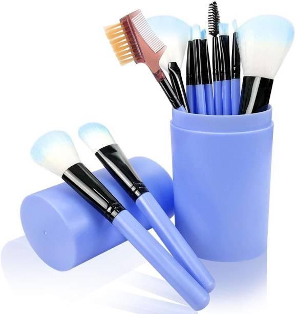 SKINPLUS 12 Pcs Makeup Brushes for Foundation Eyeshadow Eyebrow Eyeliner Blush Powder Concealer Contour