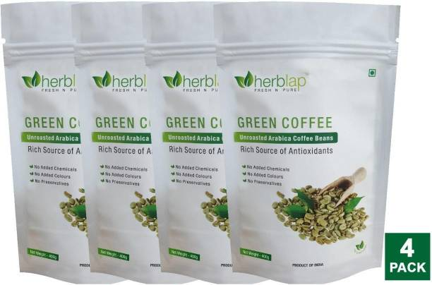 herblap Green Coffee beans for Weight Loss(Unroasted Beans) Instant Coffee (1.6 kg) Coffee Beans