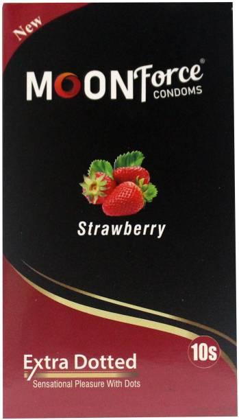 MOONFORCE CONDOM_STRAWBERRY_FLAVOURED_CONDOMS_BUY10PIECE_GET_13PIECE_IN_SAME_PRICE Condom