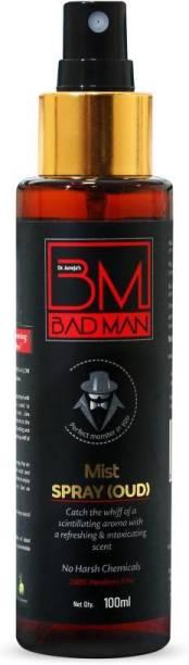 BADMAN OUD Mist Spray 100% Parabens Free, 100ml Body Mist  -  For Men