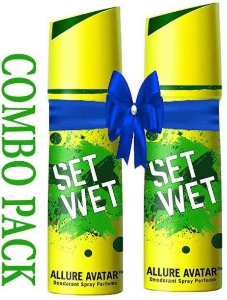 SET WET Deodorant Spray Perfume, Allure Avatar Deodorant Spray - For Men (300 ml) SET OF (2 PACK) Deodorant Spray  -  For Men & Women