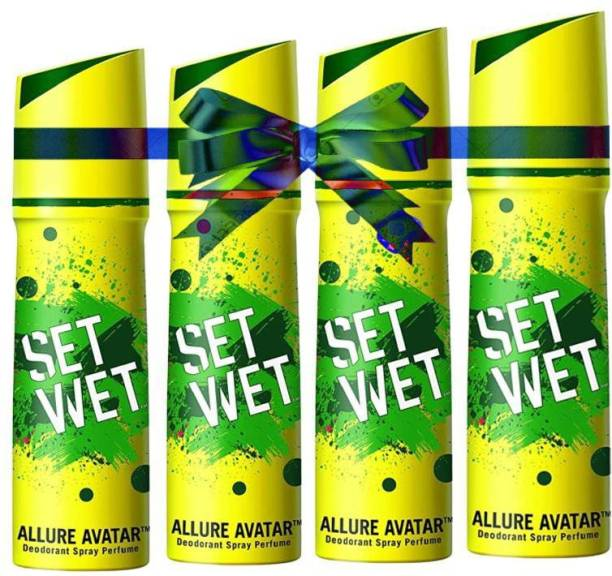 SET WET Deodorant Spray Perfume, Allure Avatar Deodorant Spray - For Men (600 ml) SET OF (4 PACK) Deodorant Spray  -  For Men & Women