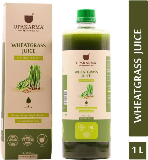 UPAKARMA Ayurveda Wheatgrass Natural, Herbal, Ayurvedic Juice for Detoxification and Immunity Boosting I No Added Sugar (1 L)