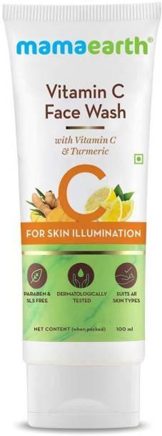 "MamaEarth ""Original Vitamin C  with Vitamin C and Turmeric for Skin Illumination - 100ml "" Face Wash"