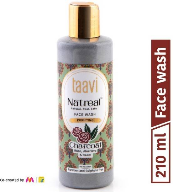 Taavi Natreal Purifying Charcoal - NO Harmful chemicals, only real ingredients Face Wash