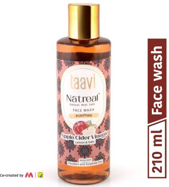 Taavi Natreal Cleansing Apple Cider Vinegar - NO Harmful chemicals, only real ingredients Face Wash